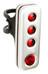 Knog Blinder Road R70 Rücklicht rote LED silver